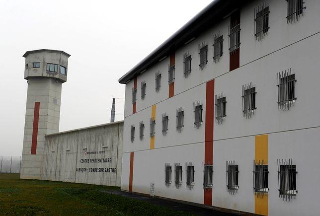 Więzienie Conde-sur-Sarthe w północno-zachodniej Francji