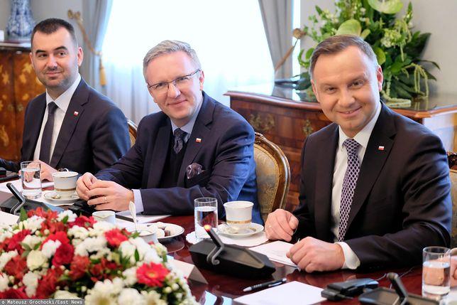 Od prawej: Andrzej Duda, Krzysztof Szczerski, Błażej Spychalski