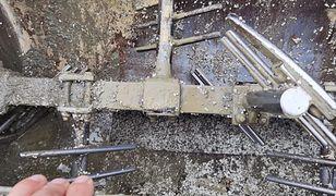 Wrocław. Nietypowy wypadek na budowie. Maszyna do betonu wciągnęła człowieka
