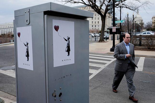 Praca Banksy'ego w Waszyngtonie