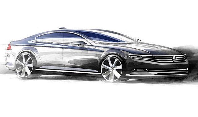 Pierwsze szkice nowego Volkswagena Passata
