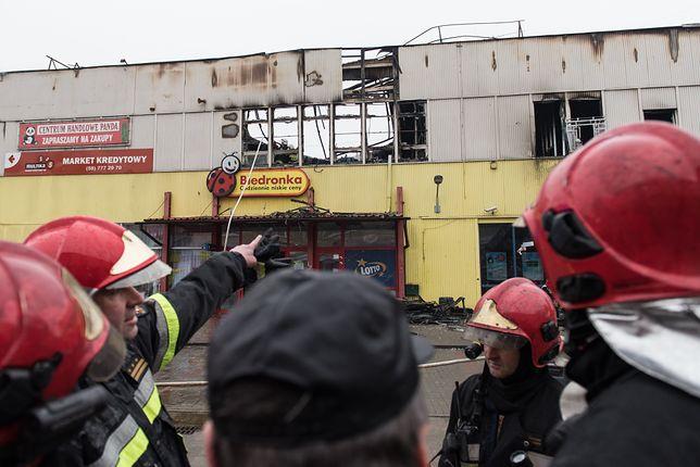 Skutki pożaru domu towarowego Retman w Tczewie w 2016 r.