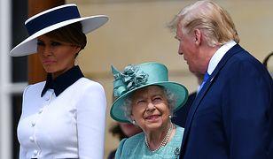 Donald i Melania Trump spotkali się z królową Elżbietą