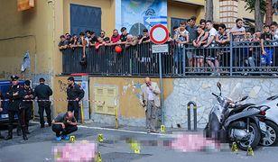 Ciała ofiar mafijnych porachunków na ulicach Neapolu, 2017 r.