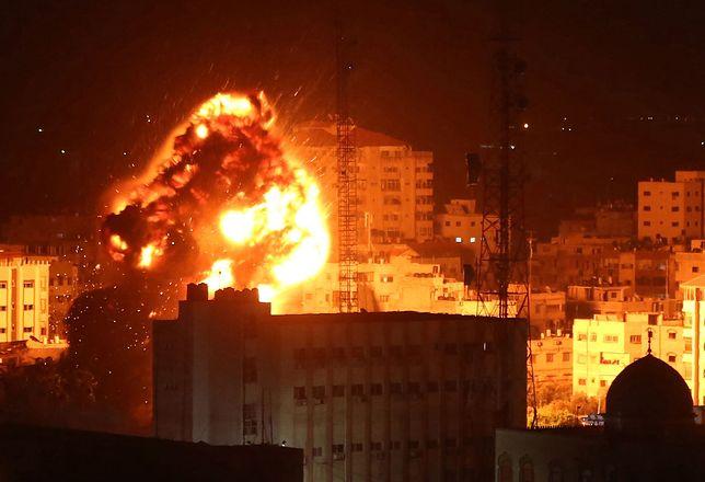 Wybuch izraelskiej bomby w Strefie Gazy