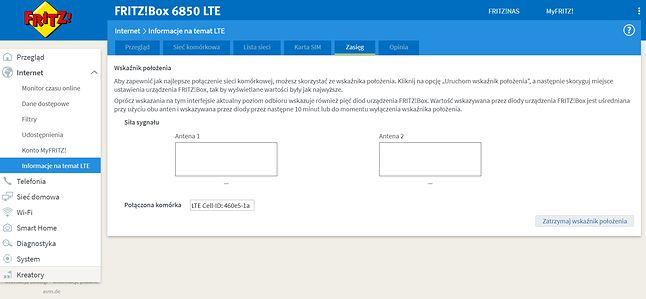Router FRITZ!Box 6850 LTE - wskaźnik położenia