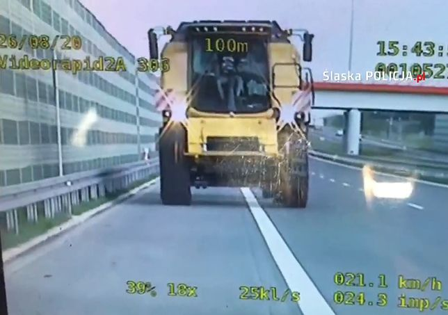 Kombajnem po autostradzie A1