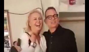 Monika Jaskólska i Tom Hanks w Polsce. Fiat jest już w Stanach
