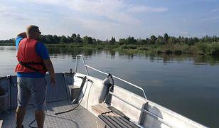 Ratownicy WOPR szukają ciała żeglarza na Jeziorze Nyskim