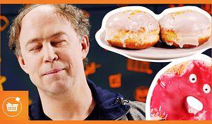 """W specjalnym odcinku """"Czy to się opłaca?"""" - Michal Pol zajadał się pączkami."""