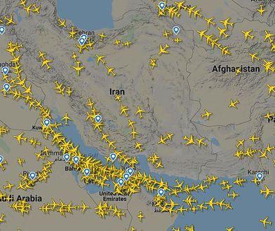 Większość samolotów szerokim łukiem omija Irak oraz Iran. Niektóre linie jednak zagrożenia nie widzą