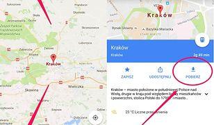 Jak pobrać Mapy Google do offline
