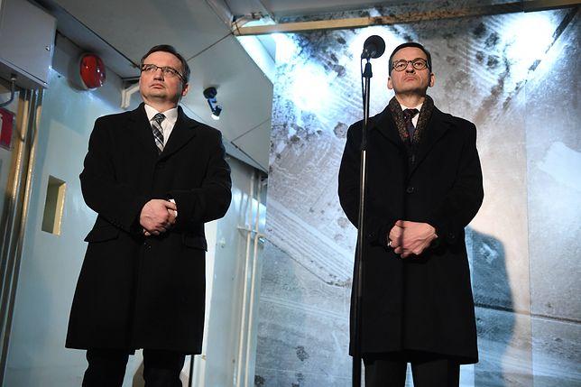 Trwa rozgrywka między premierem Mateuszem Morawieckim a ministrem Zbigniewem Ziobro. W tle reforma wymiaru sprawiedliwości i Unia