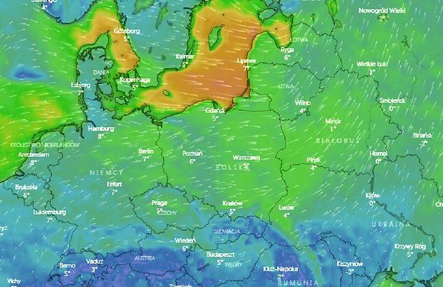Pogoda. Prognoza zagrożeń IMGW. Silny wiatr i deszcz ze śniegiem