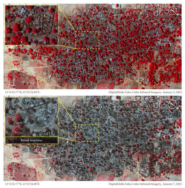 Koszmar w Nigerii. Amnesty International opublikowała satelitarne zdjęcia po atakach Boko Haram
