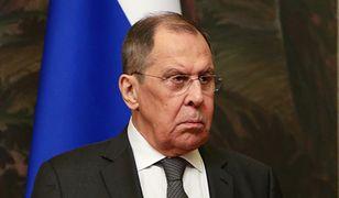 """Rosja i Białoruś odpowiedzą na sankcje. Siergiej Ławrow: koordynujemy """"czarne listy"""""""