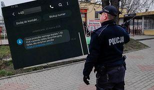 Policjanci ostrzegają przed oszustami.