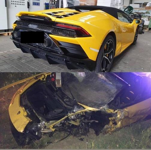 Lamborghini, którym kierował Marcin Bułka/Instagram