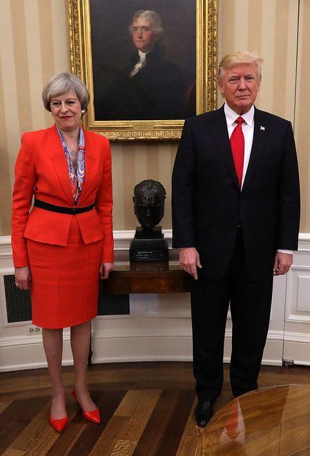 Premier Wielkiej Brytanii zachwyciła strojem