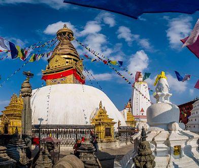 Będąc w Nepalu warto zobaczyć świątynię Swayambhunath