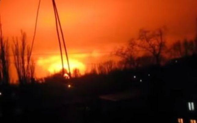 """Silna eksplozja w Doniecku. Wybuch w fabryce czy """"trafienie w konwój gradów""""?"""