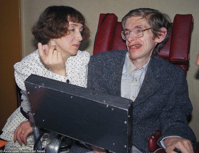 Stephen Hawking z pierwszą żoną Jane Wilde.