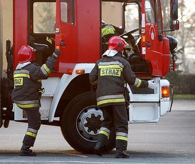 Pożar zakładów mięsnych Olewnik koło Drobina