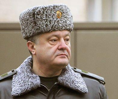 Prezydent Ukrainy Petro Poroszenko w styczniu 2015 roku.