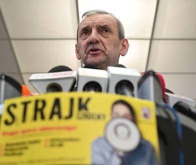 Szef Związku Nauczycielstwa Polskiego, Sławomir Broniarz.