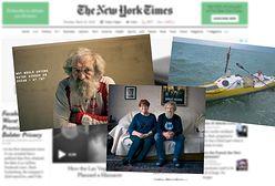"""Aleksander Doba w """"The New York Times"""". """"Dlaczego ktoś chciałby przepłynąć Atlantyk w wieku 70 lat?"""""""