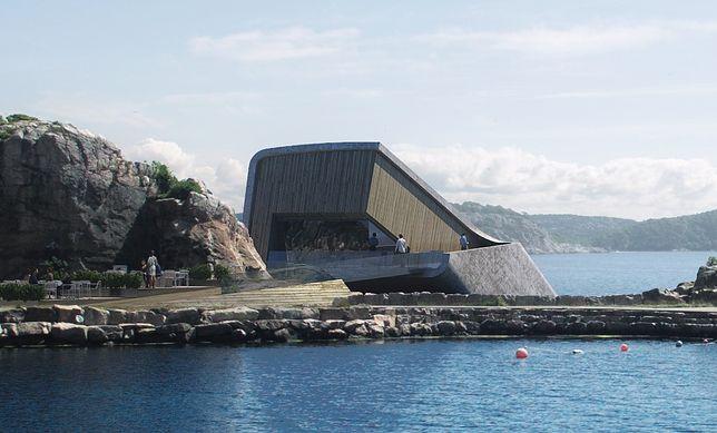 """Restauracja """"Under"""" będzie mogła pomieścić do 100 osób. Goście skosztują w niej najlepszych dań norweskiej kuchni"""