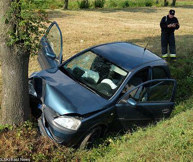 Miejsce wypadku na drodze krajowej nr 28 między Przemyślem a Medyką
