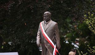 Szczecin. Pomnik Lecha Kaczyńskiego