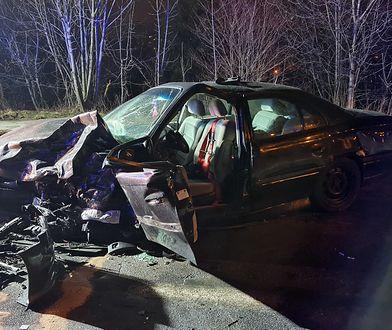Bielsko-Biała. Koszmarny wypadek. Auto do kasacji, kierowca kompletnie pijany i agresywny