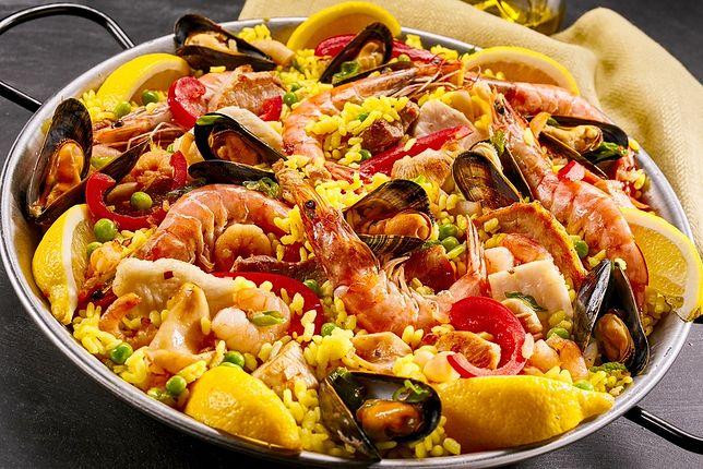 Paella to smaczna hiszpańska potrawa