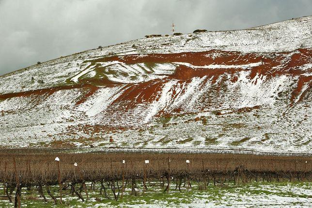 Wzgórza Golan w śniegu