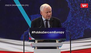"""""""Nasza partia często gryzła trawę i zwyciężała"""". Mobilizujące przemówienie Kaczyńskiego"""
