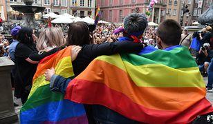 Manifestacja przeciw przemocy w Gdańsku po wydarzeniach na Marszu Równości w Białymstoku