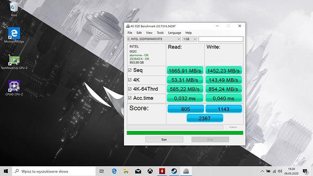 Dla formalności – Intel 660p 1 TB w akcji