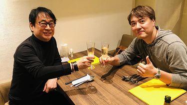 "Masami Yamamoto opuszcza Sony Japan Studio po 25 latach - Od lewej: Noriyuki Asakura (kompozytor ""Tenchu"") oraz Masami Yamamoto."