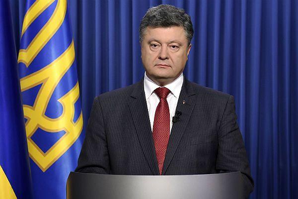 Petro Poroszenko podczas orędzia