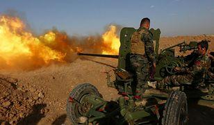 Kurdyjskie oddziały artyleryjskie, zdjęcie z maja 2016 r.