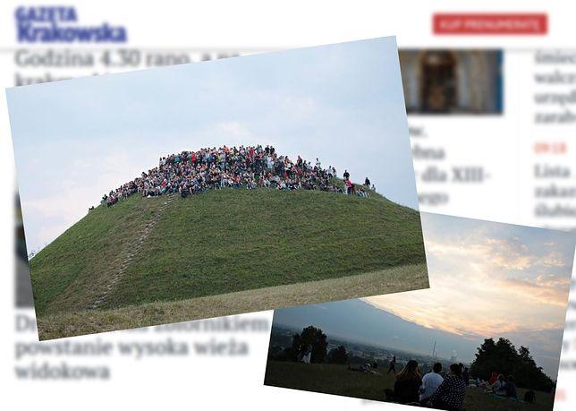 Tłumy na krakowskim kopcu. Mieszkańcy powitali najdłuższy dzień w roku