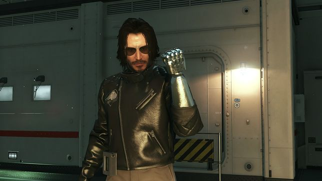 """Keanu Reeves jako Johnny Silverhand w """"Metal Gear Solid 5"""""""