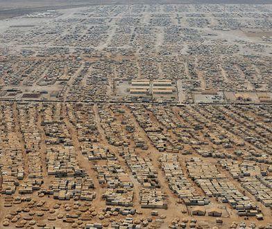 Obóz dla syryjskich uchodźców Zaatari w Jordanii