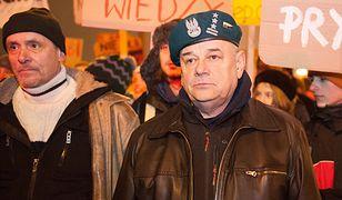 Adam Mazguła wsparł protestujących studentów 21 stycznia