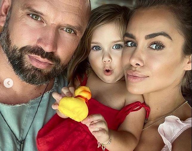 Natalia Siwiec z córką i partnerem