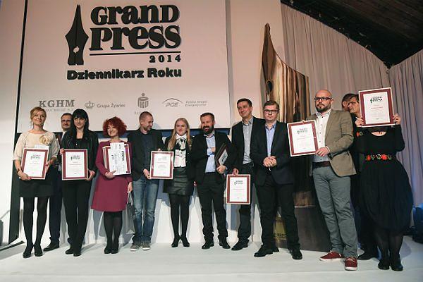 Rozdano nagrody Grand Press. Piotr Andrusieczko Dziennikarzem Roku 2014