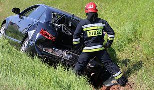 Limuzyna BOR rozbita w maju 2017 r. w Markowicach w Śląskiem.