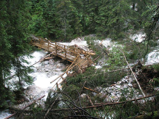 Opłakane skutki ulewy w Tatrach. Straty na blisko 3 mln zł